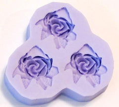 Reusable silicone Rose mold with leaves