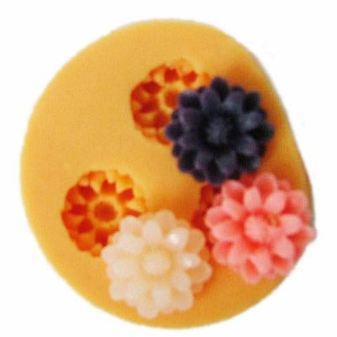 3 flower silicone mold