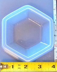 Hexagon base paperweight mold 574