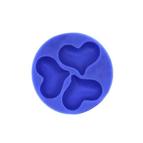 3 heart silicone mold
