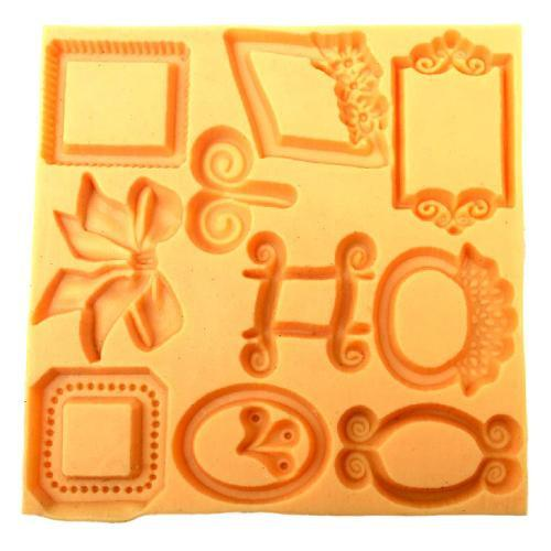 Frames and flowers silicone mold