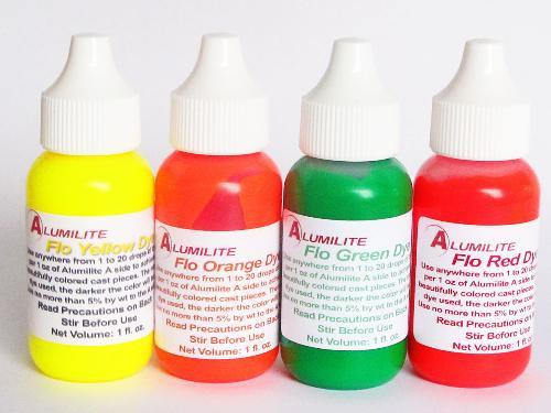 Alumilite colorants complete set of 4 fluorescent pigments