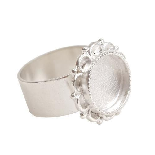Sterling silver plated ornate ring
