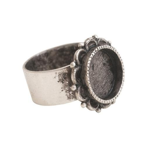 Antique ornate silver ring