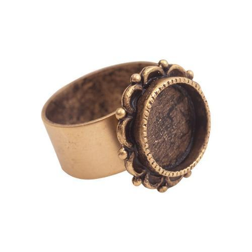 Antique gold ornate ring
