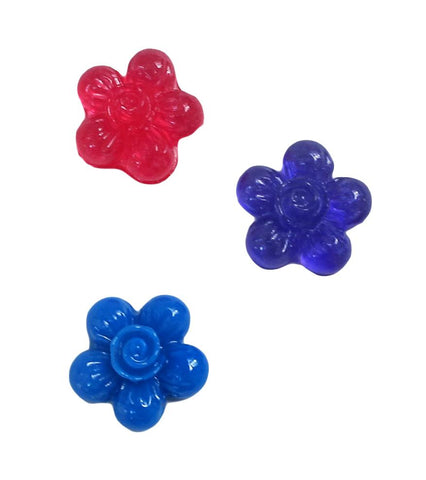 4 flower clear silicone mold
