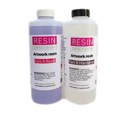 Clear artwork resin, painting resin, 1/2 gallon kit