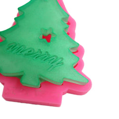 Christmas tree ornament silicone mold