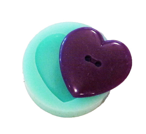 Smooth heart reusable silicone button mold