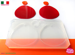 Clear silicone large and small shapes earrings mold