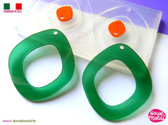 Clear silicone mod style earrings mold