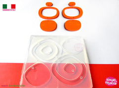 Clear three piece dangle silicone earrings mold