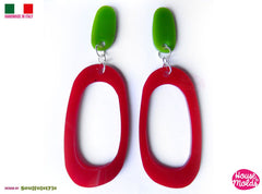 Clear oval silicone earrings mold