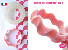 Clear silicone ruched texture bangle mold