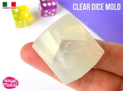 Clear six sided silicone dice mold
