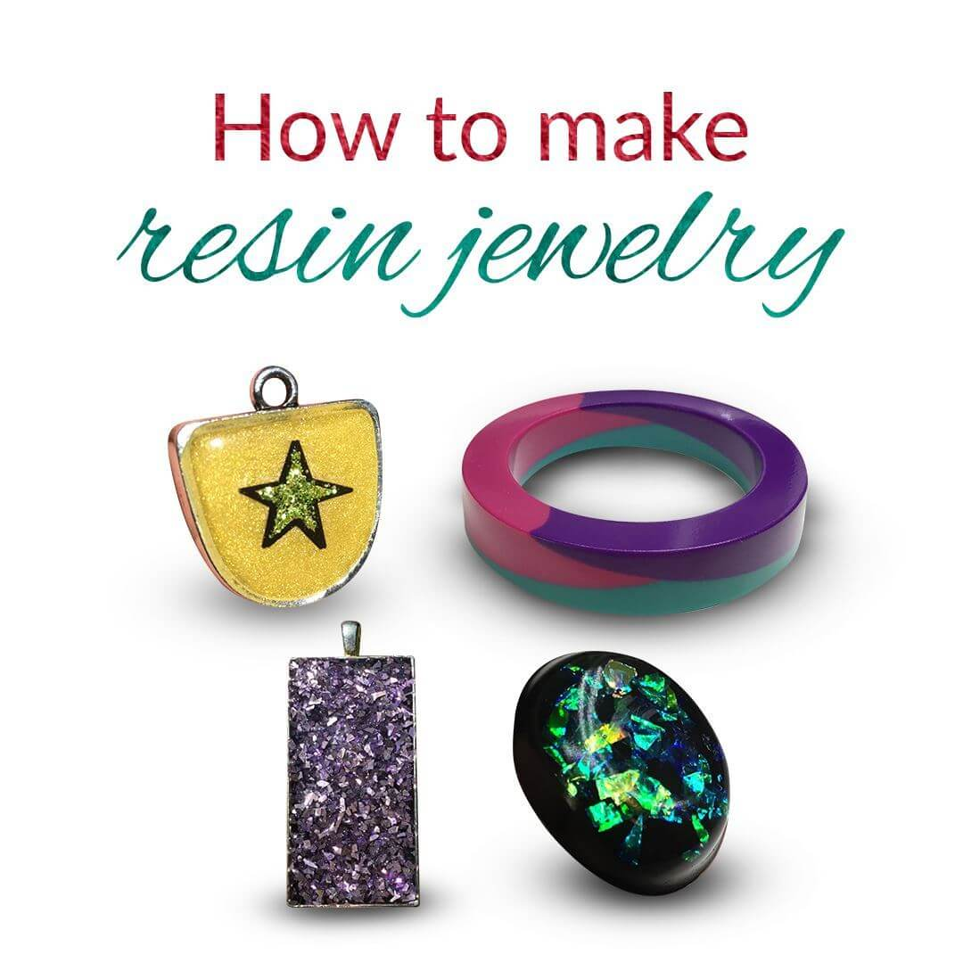 Online resin jewelry making class