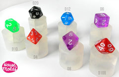 Clear silicone dice molds - single dice molds