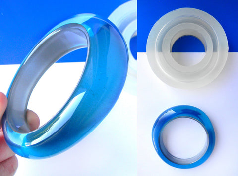 Clear silicone asymmetric shape bangle mold