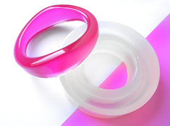 Clear silicone tapered ends bangle mold