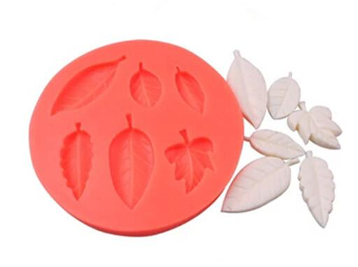 Six leaves reusable silicone mold