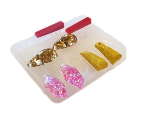 Clear silicone 4 pairs matched earrings mold