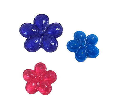 3 flower different sizes clear silicone mold