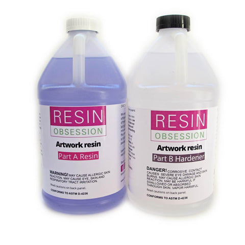 Clear artwork resin, resin for art, 1 gallon kit artist resin