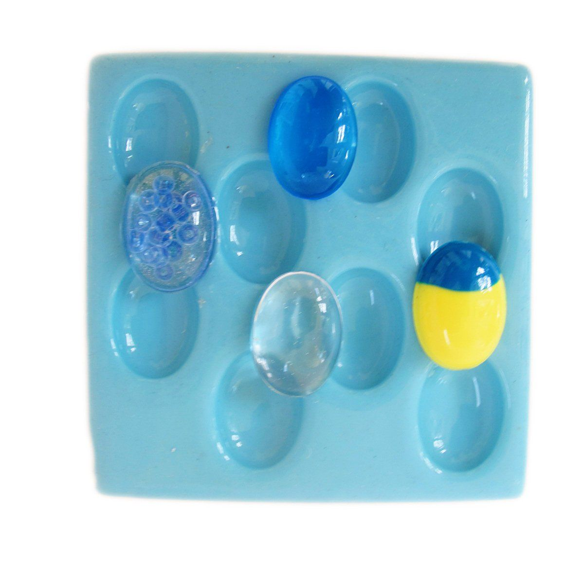 25 mm by 18 mm cabochon reusable silicone mold