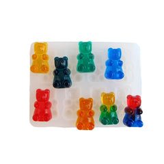 Candy bear resin clear silicone mold - make lookalike bear candies