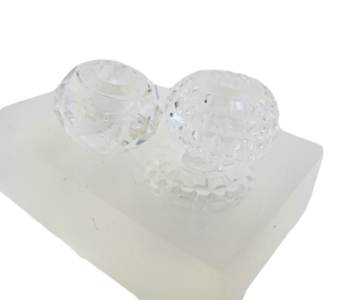 Faceted bead two styles reusable clear silicone mold