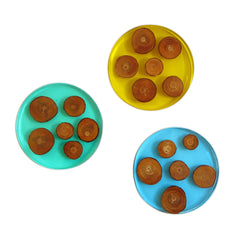 Round three cavity silicone coaster mold