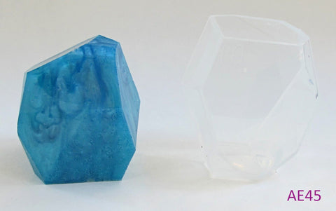 Crystal rock clear silicone mold