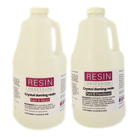 Resin Obsession 1 Gallon Epoxy Doming Resin - jewelry grade
