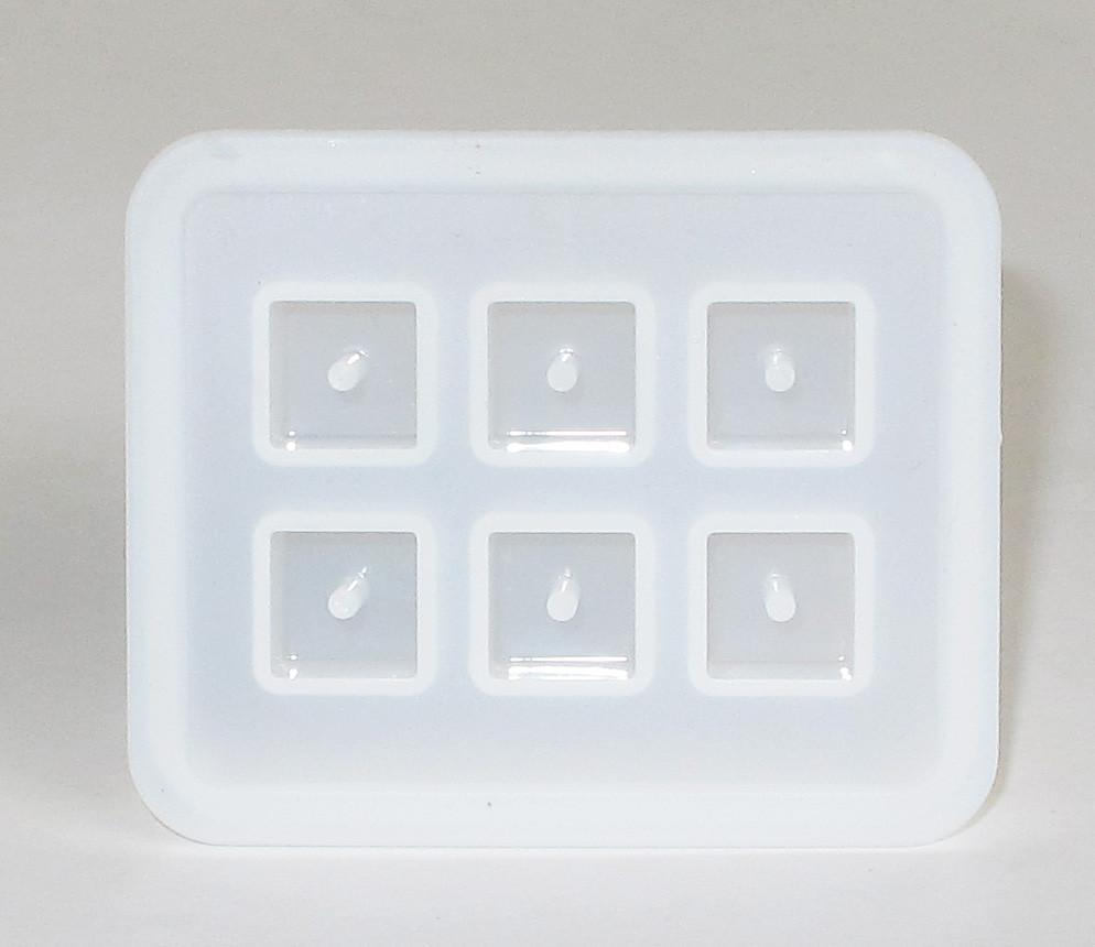 Silicone cube mold - 6 cavities