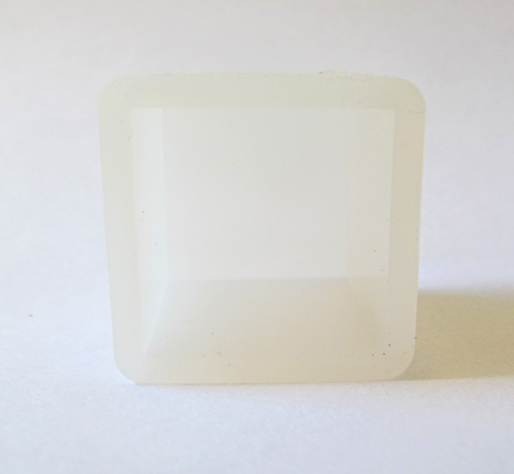 Clear Silicone cube mold - make resin cube paperweights