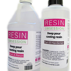 Deep pour slow cure clear epoxy resin, 3/4 gallon kit