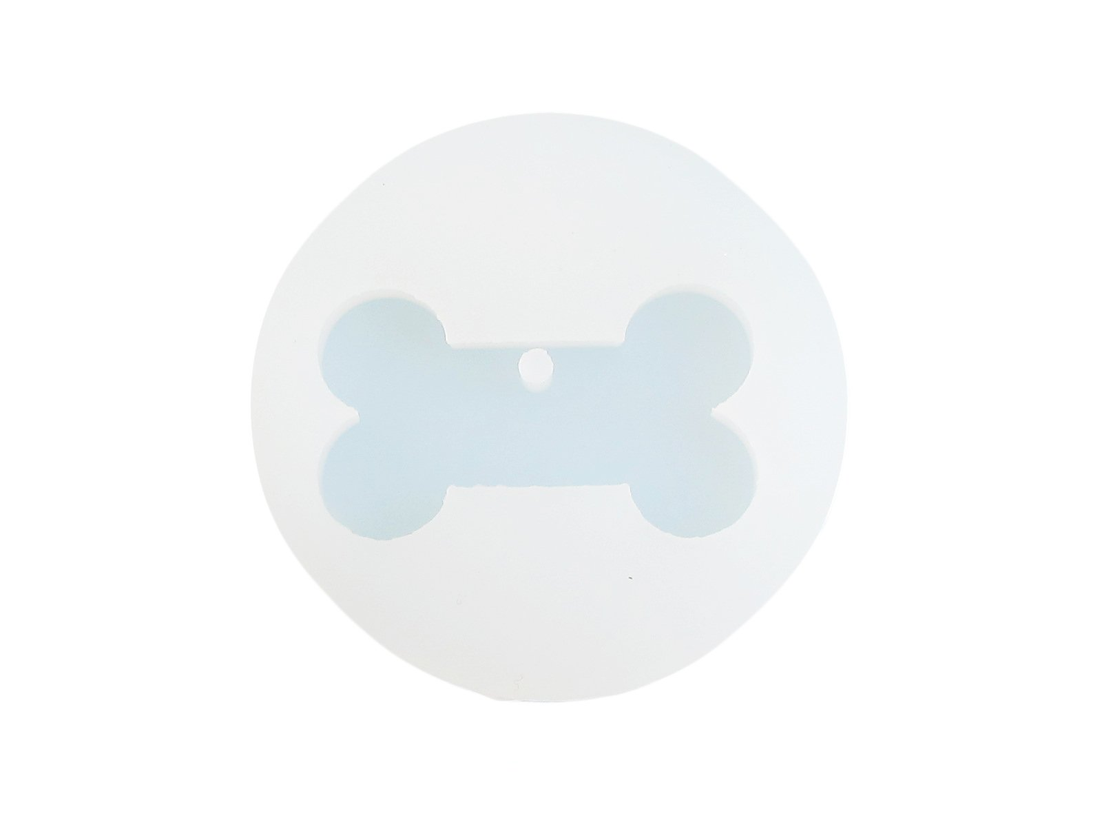Silicone dog bone pendant mold
