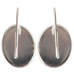 Earring Large Oval french wires