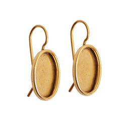 Earring Small Oval french wires