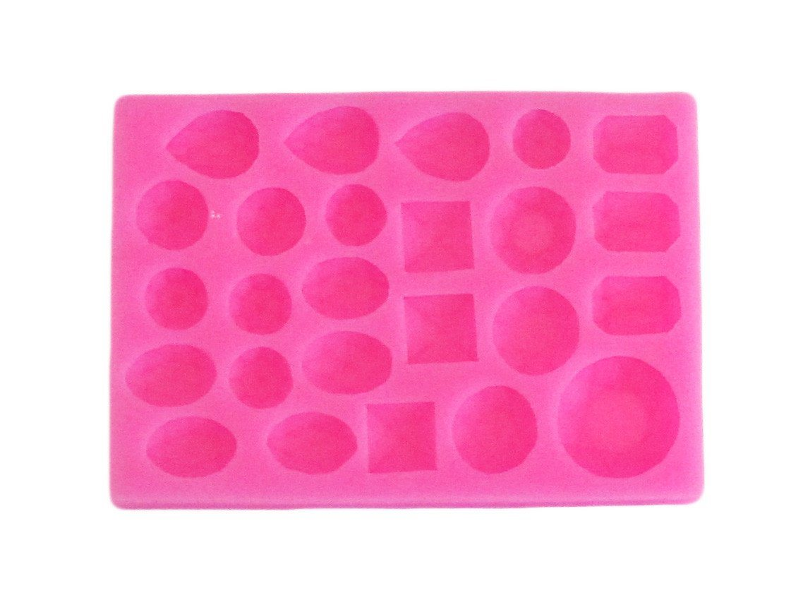 Assorted gemstones silicone mold