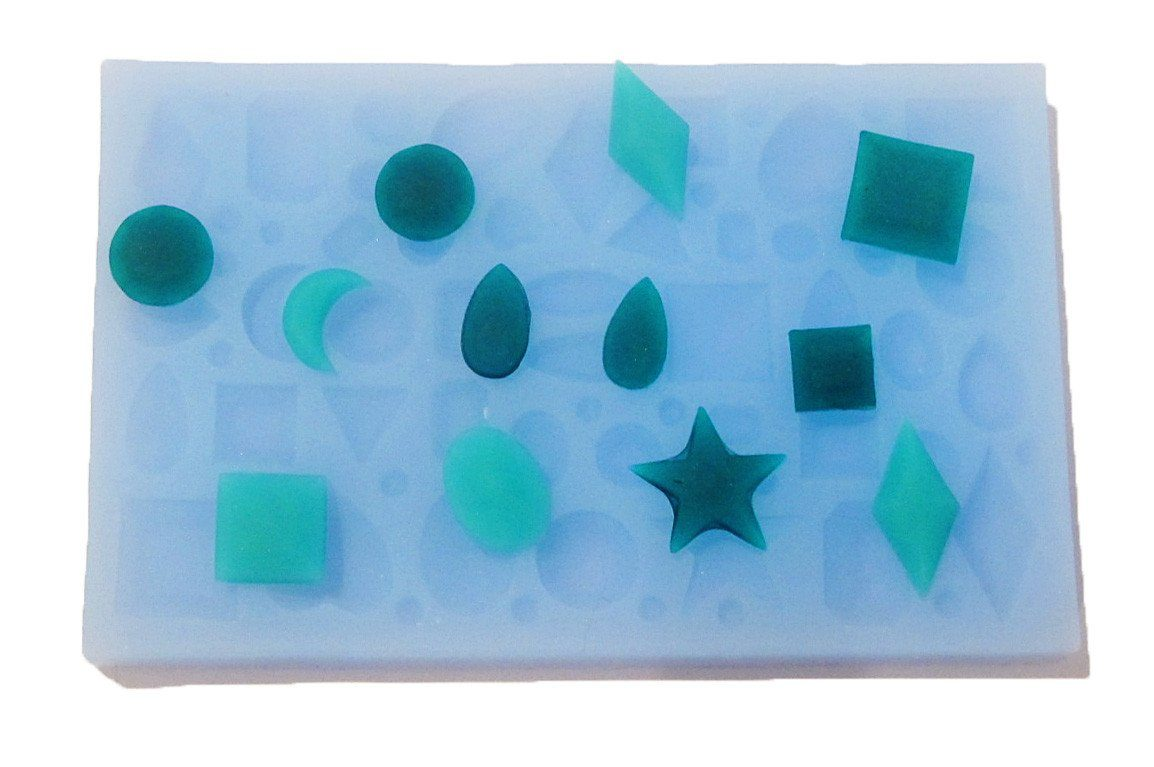 Faceted gemstones silicone mold