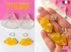 Clear silicone fan shape earrings mold