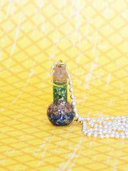 Round bubble genie glass bottle