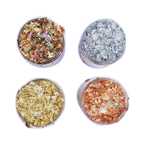 Gilding flakes for resin - gold, silver, copper and bronze colors
