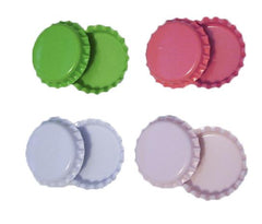 Two sided linerless colored bottle caps