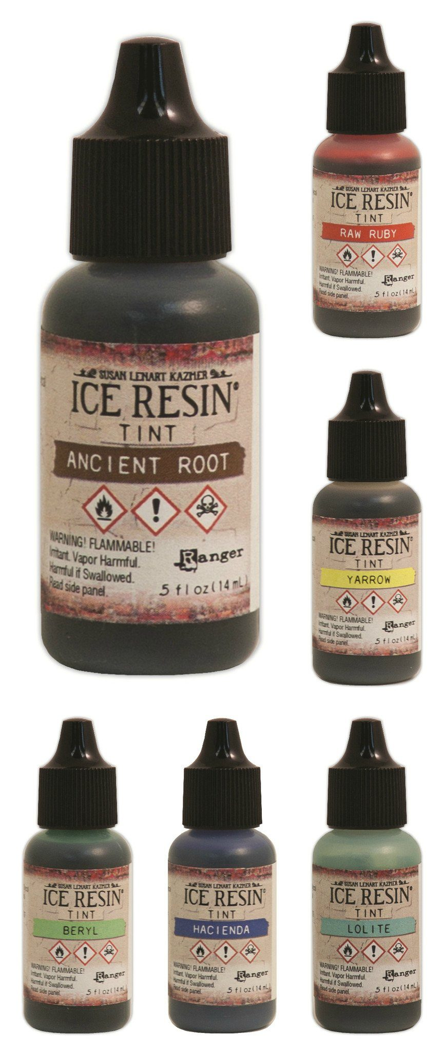 Ice Resin color tints set of 6