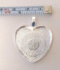 Heart shaped silver bezel blank