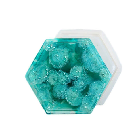 Hexagon silicone coaster mold
