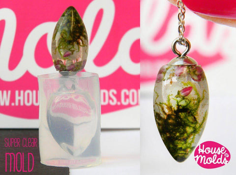 Clear silicone cone pendant mold - resin pendant mold