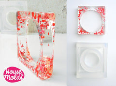 Clear silicone square bangle mold
